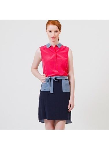 Kolsuz Gömlek Yaka Kısa Elbise-Lacoste